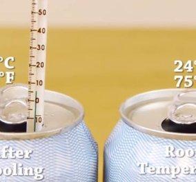 Δείτε σε 1 μόνο βίντεο το πιο πρακτικό τρικ για να παγώσετε αναψυκτικά & μπύρες σε 2' - Κυρίως Φωτογραφία - Gallery - Video