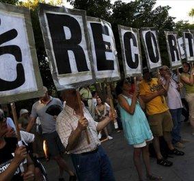 Λαοθάλασσα στη Μαδρίτη υπέρ της Ελλάδας- Χιλιάδες «Νε»  το «Όχι» στα Ελληνικά - Κυρίως Φωτογραφία - Gallery - Video