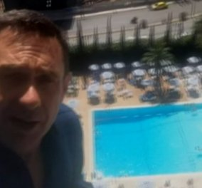 O δημοσιογράφος του Channel 4 σκαρφαλωμένος στο Hilton : «Πρωτοφανή πράγματα συμβαίνουν στην Αθήνα» - Κυρίως Φωτογραφία - Gallery - Video