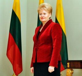 "Video: Όταν η ξανθιά Πρόεδρος της Λιθουανίας Dalia μας την ""είπε"": ''Οι Έλληνες ζητούν συνέχεια λεφτά'' - Κυρίως Φωτογραφία - Gallery - Video"