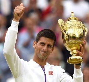 Βασιλιάς του τένις ο 28χρονος Σέρβος Τζόκοβιτς - Κέρδισε τον θεό Φεντερέρ στο Wimbledon   - Κυρίως Φωτογραφία - Gallery - Video