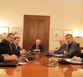 Αυτό είναι το επίσημο ανακοινωθέν των 5 πολιτικών Αρχηγών - Κυρίως Φωτογραφία - Gallery - Video