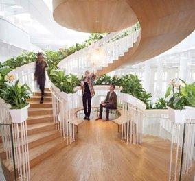 Απίθανη ξύλινη, σπιράλ σκάλα με φανταστικό κήπο σε κάθε σκαλί & μίνι βιβλιοθήκες - Αξίζει να την δείτε  - Κυρίως Φωτογραφία - Gallery - Video