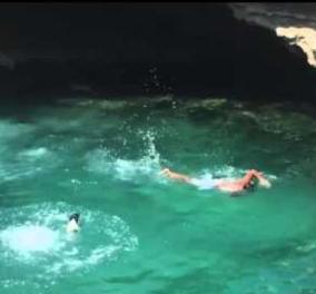 Βίντεο - Καληνύχτα σας με μια βουτιά σε σμαραγδί νερά, αλλιώτικη & χαριτωμένη    - Κυρίως Φωτογραφία - Gallery - Video