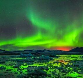 Αποθέωσις- Χρωμάτων & φύσης: Ονειρική η στιγμή της έκρηξης στην Ισλανδία -Βίντεο  - Κυρίως Φωτογραφία - Gallery - Video