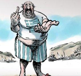 Να ο Έλληνας που ψήφισε «Όχι» στο δημοψήφισμα - Το προσβλητικό σκίτσο ολλανδικής εφημερίδας - Κυρίως Φωτογραφία - Gallery - Video