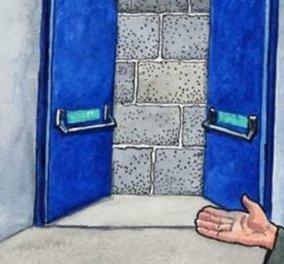 Το αιχμηρό σκίτσο του Guardian: Η Μέρκελ με στρατιωτική στολή, δείχνει στην Ελλάδα την πόρτα για το... Grexit - Κυρίως Φωτογραφία - Gallery - Video