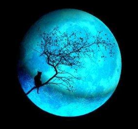 Βίντεο φωτό - Απόψε υποδεχόμαστε τον Αύγουστο με Μπλε Φεγγάρι - Τι είναι η Μπλε Πανσέληνος ή 13η  - Κυρίως Φωτογραφία - Gallery - Video