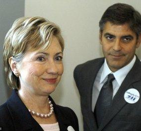 Ακόμη και ο Τζωρτζ Κλούνεϊ η η Οπρα Γουινφρευ θα έχαναν από την Χίλαρι Κλιντον αν έβαζε υποψηφιότητα - Κυρίως Φωτογραφία - Gallery - Video