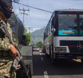 Ελ Σαλβαδόρ: Επτά οδηγοί λεωφορείων δολοφονήθηκαν επειδή δεν απήργησαν από την πιο βίαιη συμμορία στον κόσμο  - Κυρίως Φωτογραφία - Gallery - Video