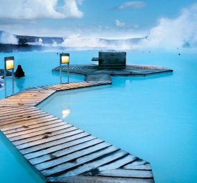 """Βίντεο φώτο: Ελάτε να κολυμπήσουμε στα γαλάζια νερά του """"θαύματος"""" Blue Lagoon της Ισλανδίας  - Κυρίως Φωτογραφία - Gallery - Video"""