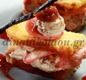 H Ντίνα Νικολάου σε μια συνταγή μμμμ: Μιλφέιγ από κέικ με σύκα και τυρί κρέμα  - Κυρίως Φωτογραφία - Gallery - Video