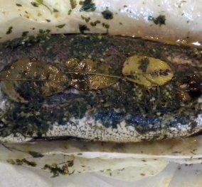 Aπίθανη συνταγή! Μυλοκόπι στη λαδόκολλα με φινόκιο ντοματίνια πιπεριές και κάπαρη  - Κυρίως Φωτογραφία - Gallery - Video