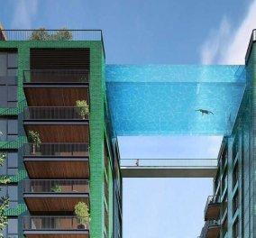 """Δείτε την πρώτη πισίνα στον κόσμο -""""υδάτινη γέφυρα"""" ανάμεσα σε 2 κτίρια - Με θέα όλο το Λονδίνο από ψηλά  - Κυρίως Φωτογραφία - Gallery - Video"""