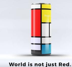 """Αυτό είναι το νέο πολύχρωμο κουτί της Pepsi Cola που """"σπάει το κόκκινο"""" - Με έμπνευση από τον Mondrian   - Κυρίως Φωτογραφία - Gallery - Video"""