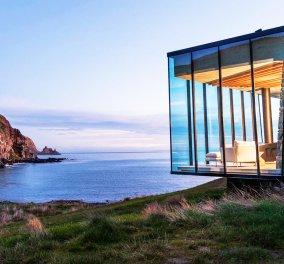 Μια γυάλινη βίλα με θέα τον ωκεανό - το παραμυθένιο σπίτι στη θάλασσα - Κυρίως Φωτογραφία - Gallery - Video
