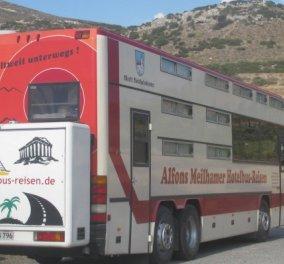 Για πρώτη φορά το λεωφορείο-ξενοδοχείο έκανε την εμφάνισή του στη Νάξο - Φώτο  - Κυρίως Φωτογραφία - Gallery - Video