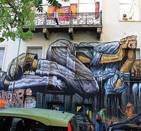 Ένα γιγάντιο graffiti για τους άστεγους στα Εξάρχεια - Κυρίως Φωτογραφία - Gallery - Video