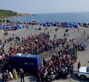 Ένταση επικρατεί στη Μυτιλήνη: Μετανάστες οπλισμένοι με πέτρες και ξύλα απέναντι στα ΜΑΤ  - Κυρίως Φωτογραφία - Gallery - Video