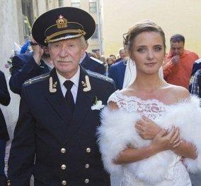 Διάσημος Ρώσος ηθοποιός παντρεύτηκε την κατά 60 χρόνια νεότερη μνηστή του & κουκλίτσα   - Κυρίως Φωτογραφία - Gallery - Video