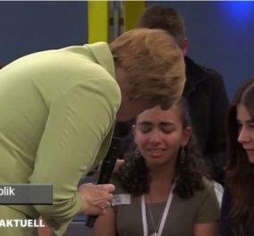 ''Λύγισε'' η σκληρή Μέρκελ: Άδεια διαμονής έλαβε το κορίτσι που έκλαιγε μπροστά της - Κυρίως Φωτογραφία - Gallery - Video
