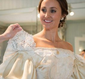 H συγκινητική ιστορία της Άμπιγκεϊλ: Συνεχίζει την οικογενειακή παράδοση & φοράει στον γάμο της νυφικό... 120 ετών - Κυρίως Φωτογραφία - Gallery - Video