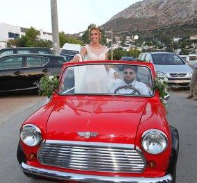 Οι πρώτες φωτογραφίες από το γάμο Ψυχράμη - Μακαλιά: Mε boho νυφικό & κοιλίτσα έξω η νύφη - Κυρίως Φωτογραφία - Gallery - Video