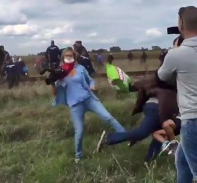 Παγκόσμια οργή & τελικά απόλυση για την οπερατέρ που έβαλε τρικλοποδιά σε πρόσφυγες - Δείτε το επίμαχο βίντεο - Κυρίως Φωτογραφία - Gallery - Video