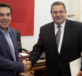 ΣΥΡΙΖΑ-ΑΝΕΛ 155 έδρες - Το μεσημέρι η εντολή σχηματισμού κυβέρνησης στον Τσίπρα & το απόγευμα η ορκωμοσία - Κυρίως Φωτογραφία - Gallery - Video