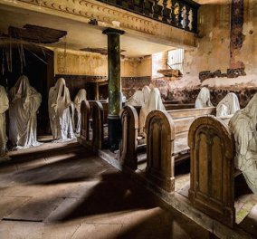 Αγάλματα - φαντάσματα μέσα σε εκκλησία - Ο πιο τρομακτικός ναός φοβίζει αντί να ηρεμεί    - Κυρίως Φωτογραφία - Gallery - Video