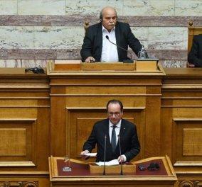 Ολάντ: Η Βουλή είναι ένα σύμβολο, εδώ γεννήθηκε η ιδέα της δημοκρατίας και πέρασε τα σύνορα - Κυρίως Φωτογραφία - Gallery - Video
