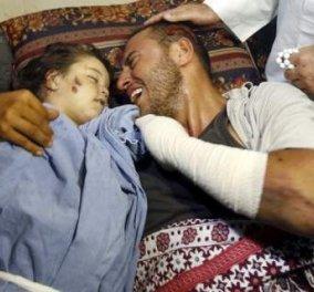 ''Ξύπνα κόρη μου'': Συγκλονίζει ο Παλαιστίνιος πατέρας που κρατά τη κρατά τη νεκρή 2χρονη κόρη του - Παγκόσμια συγκίνηση - Κυρίως Φωτογραφία - Gallery - Video