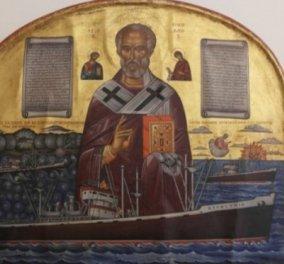 Vintage Story: Όταν το χτύπημα τυφώνα πάνω σε ελληνικό πλοίο στον Ειρηνικό έγινε εικόνισμα του Άι Νικόλα - Κυρίως Φωτογραφία - Gallery - Video