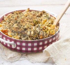 Συγκλονιστικές Penne Rigate με σάλτσα Arabiata & λαχανικά με κρούστα στο φούρνο από την απίθανη Αργυρώ - Κυρίως Φωτογραφία - Gallery - Video