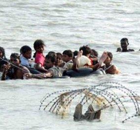 Λέσβος: Τρεις νεκροί από ανατροπή σκάφους με πρόσφυγες - μετανάστες- Ανάμεσά τους και ένα βρέφος    - Κυρίως Φωτογραφία - Gallery - Video