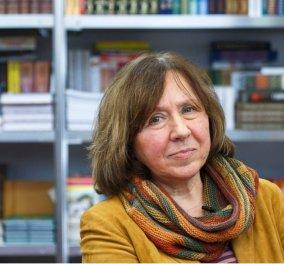 Στην Λευκορωσίδα Σβετλάνα Αλεξίεβιτς το Νομπέλ Λογοτεχνίας 2015 - Κυρίως Φωτογραφία - Gallery - Video