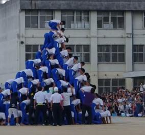 Βίντεο: Η τρομακτική στιγμή της κατάρρευσης ανθρώπινης πυραμίδας 150 μαθητών  - Κυρίως Φωτογραφία - Gallery - Video