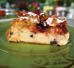 Ο Βαγγέλης Δρίσκας μάς κακομαθαίνει γλυκά: Πως να απολαύσετε το τέλειο Cheesecake με φύλλο κρούστας  - Κυρίως Φωτογραφία - Gallery - Video