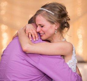 Κουκλίτσα νύφη που επέζησε από καρκίνο χορεύει στο γάμο με το δότη που της έσωσε την ζωή  - Κυρίως Φωτογραφία - Gallery - Video