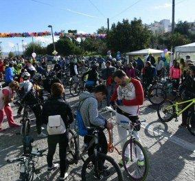 Ορθοπεταλιά με τηΡένα Δούρου και τους Imam Baildi - Εγκαινίασε το νέο ποδηλατόδρομο της Αθήνας  - Κυρίως Φωτογραφία - Gallery - Video