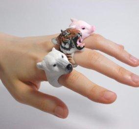 Τα χειροποίητα κοσμήματα με ζώα είναι το νέο trend: Βάλτε κοάλα, σκαντζοχοιράκια & λυκάκια στα δάχτυλα σας - Κυρίως Φωτογραφία - Gallery - Video