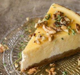 Μade in Greece το cheesecake με γιαούρτι & θυμάρι του Άκη Πετρετζίκη - Μοναδικό ελληνικότατο επιδόρπιο - Κυρίως Φωτογραφία - Gallery - Video