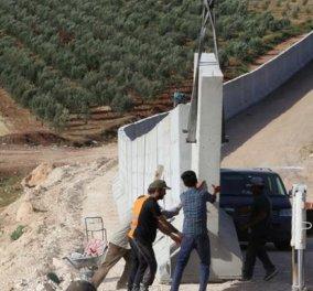 Σε πανικό η Τουρκία άρχισε να χτίζει τείχος 82 χλμ. στα σύνορα με την Συρία - Πάχος 4μ. για το πρώτο μέρος - Κυρίως Φωτογραφία - Gallery - Video