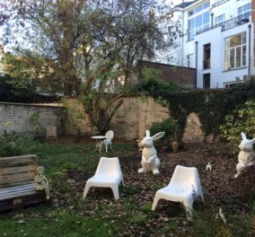 "Beudoir: Πήγα στο πιο ""γλυκούτσικο"" κομμωτήριο: Είχε κηπάκο με λαγουδάκια & παγκάκια - Κυρίως Φωτογραφία - Gallery - Video"