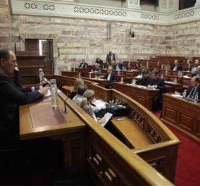 """""""Μπάχαλο"""" στο κοινοβούλιο με το κατεπείγον των προαπαιτούμενων - Σφοδρή αντιπαράθεση κυβέρνησης & αντιπολίτευσης - Κυρίως Φωτογραφία - Gallery - Video"""