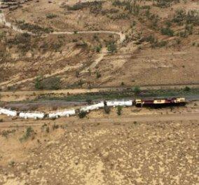 Εκτροχιάστηκε τρένο που μετέφερε 200.000 λίτρα θειικού οξέος στην Αυστραλία - Φωτό & Βίντεο - Κυρίως Φωτογραφία - Gallery - Video