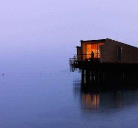 Εκθαμβωτικής ομορφιάς το ξενοδοχείο που επιπλέει σε λίμνη της Ελβετίας - Φωτό &  Βίντεο - Κυρίως Φωτογραφία - Gallery - Video