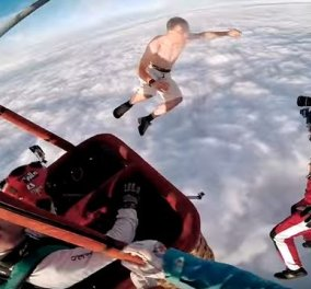 Η απόλυτη τρέλα: Ένας ριψοκίνδυνος πέφτει από τα 4.000 μέτρα (βίντεο) γυμνός & χωρίς αλεξίπτωτο! - Κυρίως Φωτογραφία - Gallery - Video
