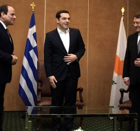Τσίπρας - Αλ Σίσι - Αναστασιάδης: Υπογράφουν την διακήρυξη της Αθήνας για ειρήνη στην περιοχή    - Κυρίως Φωτογραφία - Gallery - Video