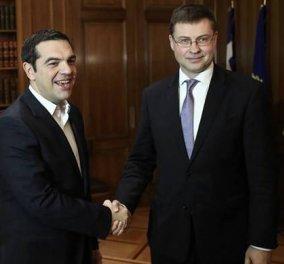 """Ντομπρόβσκις: Η Ελλάδα διέλυσε την """"χρυσή εποχή"""" του ευρώ - Δεν ήταν Ευρωπαϊκή κρίση αλλά ελληνική   - Κυρίως Φωτογραφία - Gallery - Video"""